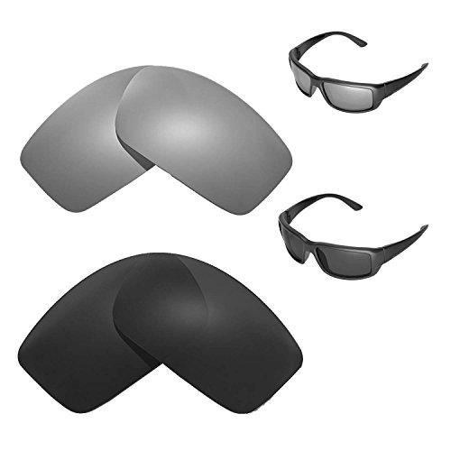 Walleva Polarisiertes Titan + schwarze Ersatzgläser für Costa Del Mar Fantail Sonnenbrille