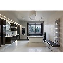 Infrarotheizung Badheizung IBP 550 Inklusive Handtuchhalter & Thermostat mit Fernbedienung Motiv Blume Badheizkörper