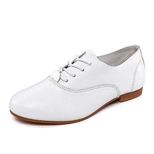 Petites chaussures blanches/Chaussures de femme laçage/ chaussures plates douces à la fin de/Casual chaussures femme A