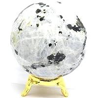 Preisvergleich für Healing Crystals India 40–50 mm Regenbogen-Mondstein-Kugel aus natürlichem poliertem Kristallstein, Feldspar Mineralstein...