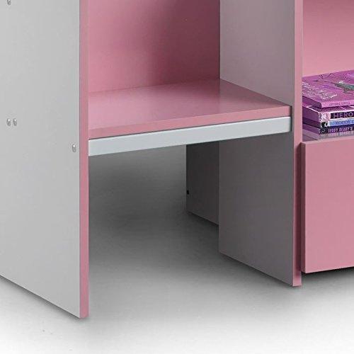 Happy Beds Cabin Bed Low Sleeper Pink Storage Kids Pocket Sprung Mattress 3' Single 90 x 190 cm