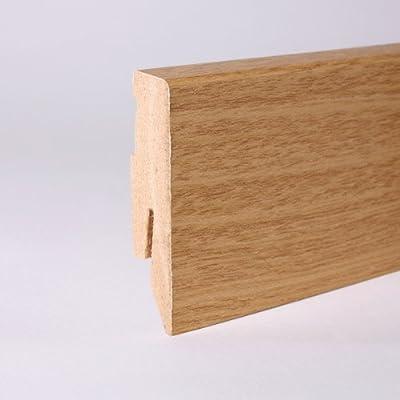 25m Sockelleisten 60mm All Inclusive Paket Eiche von Leiste24 auf TapetenShop