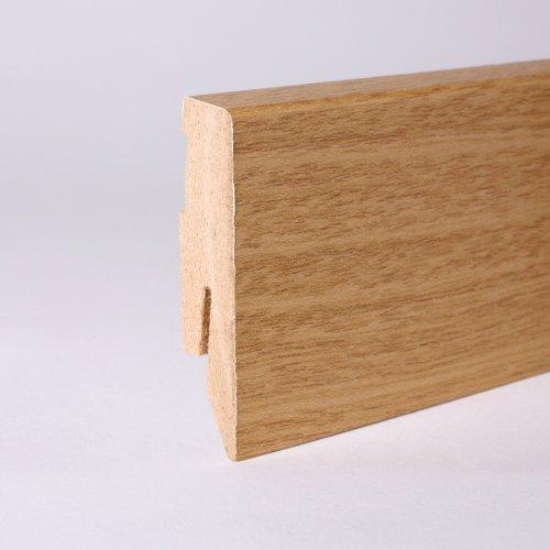 Eiche Montiert (25m Sockelleisten 60mm All Inclusive Paket Eiche)