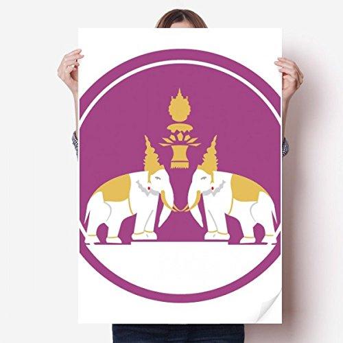 DIYthinker Tailandia Hecho en Tailandia Dos Elefantes Escudo de Vinilo Etiqueta de...