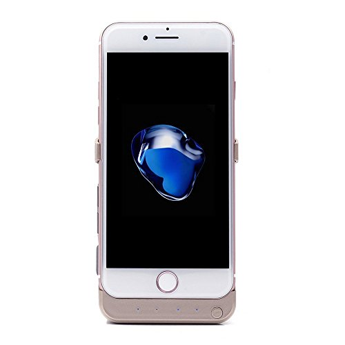 iProtect Power Case Hülle mit integriertem Ersatz Akku 5,8A 5800mAh für Apple iPhone 7 (4,7 Zoll) Batterie in schwarz iPhone 7 integrierter Akku Gold