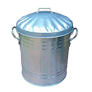 15 Litre Steel Galvanised Dustbin