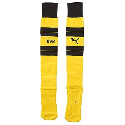 PUMA Erwachsene Socken BVB Hooped Socks, cyber yellow-black, 4, 749815 01