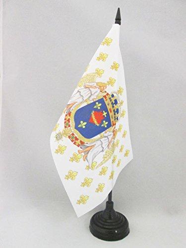 AZ FLAG TISCHFLAGGE KÖNIGREICH Frankreich Engel HEILIGSTES Herz JESU 21x14cm - KÖNIGREICH DER Franzosen TISCHFAHNE 14 x 21 cm - flaggen -