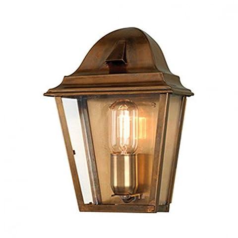 St Peter Outdoor Wall Lantern - Aged Brass