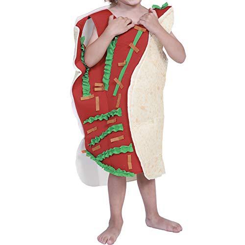 Kind Kostüm Taco - Feynman Lustige Taco Kostüm Burrito Costume Party Cosplay Halloween Karneval, Kinder,L