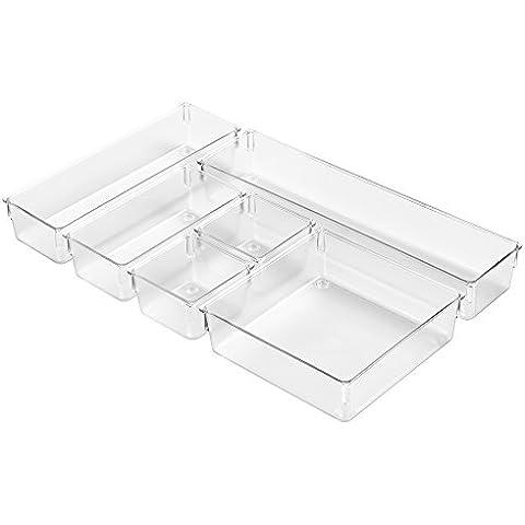 InterDesign 00174EU organizador de 6 compartimentos para cajones, transparente