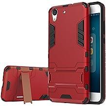 Huawei Y6 II / Honor 5A Funda ,bdeals 2in1 Duro PC + Suave TPU High Absorción de Impacto [Kickstand] Armor Carcasa Case para Huawei Y6 II / Honor 5A - Rojo