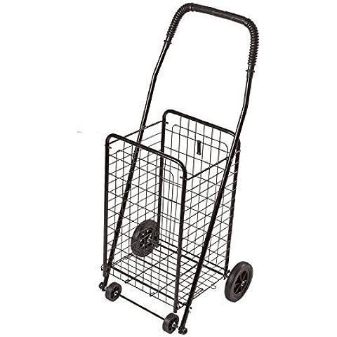 Duro-Med Folding Shopping Cart, Compact, Lightweight, Black