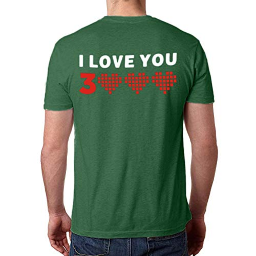 Cooljun Ich liebe dich drei tausend Mal Ironman TonyStark Danke Fan End Game Shirt Frauen Mann Paar Druck Kurzarm Lose Tops Bluse T-Shirt - Kimono Krawatte Wrap Top
