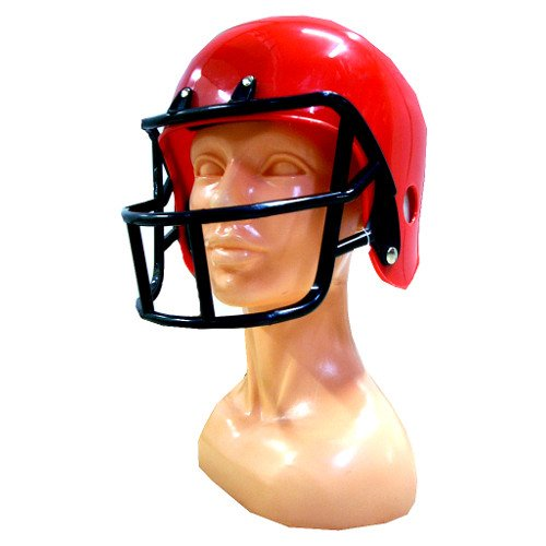 Football Helm Roter Kostüm - Generique - American Football Helm in Rot für Kinder