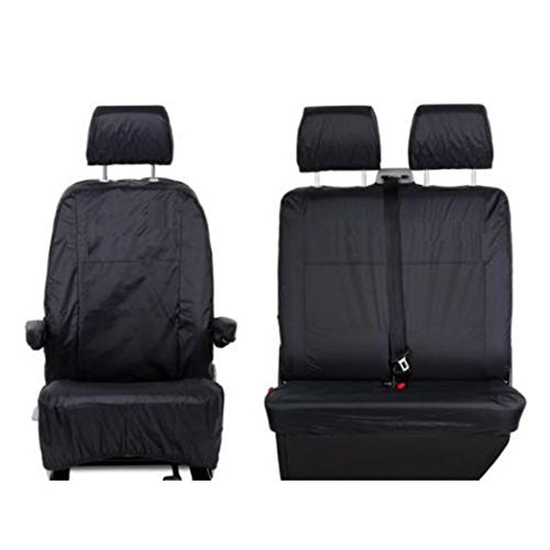 UK Custom Covers SC103B Tailored Front Seat Covers, Black