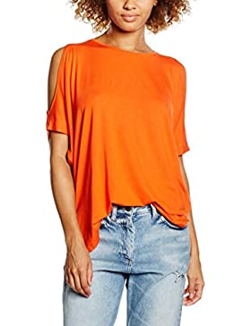 New Look Cold Shoulder Oversized, Camiseta sin Mangas para Mujer