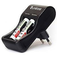 Uniross - Chargeur batteries 1,2V AA/AAA + 2 accus LR03/AAA - 800mAh