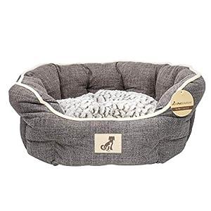 Alfie Range Fleece gefüttert warmes Luxus Hundebett, mittel, braun