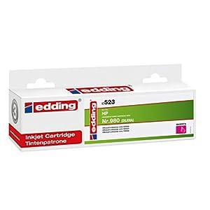 Edding - Cartuccia d'inchiostro Edd-523, sostituisce HP 980 (D8J08A), 106 ml, colore: Magenta
