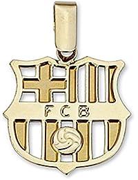 Colgante escudo F.C. Barcelona oro de ley 18k grande calado [6514] - Modelo: 10-042