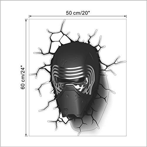 lanlanhone-127 Darth Vader Porträt Wandaufkleber Kinderzimmer Dekor Schlafzimmer Home Decals Film Wandbild Kunst Cartoon Print Poster (Darth Vader Ausgeschnitten)