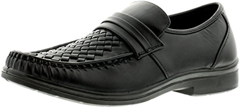 Business Class Neu Herren/Herren Schwarz Slipper Freizeit Schuhe ...