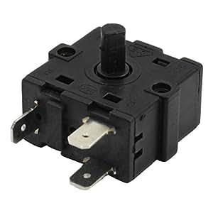 ac 250v 10a selecteur 3 positions de rotary switch pour radiateur lectrique chambre. Black Bedroom Furniture Sets. Home Design Ideas