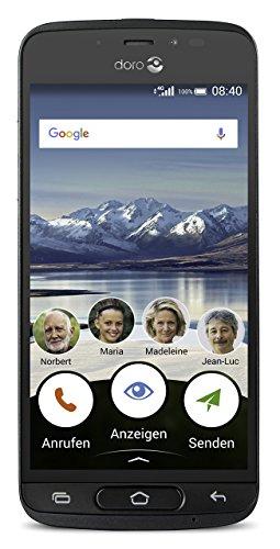 Doro 8040 12,7 cm (5 Zoll) Smartphone (4G, 8MP Kamera, 16GB Speicher, 3g Lcd