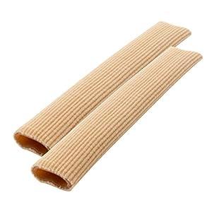 2 Stück 15cm Zuschneidbar Zehen Schlauchbandagen | Silikon Zehenschutz/Finger Separator Protektoren Bandage zum Zuschneiden, Schmerzlinderung von Blasenbildung Hühneraugen & Komfort