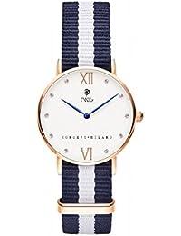 Reloj TWIG Kline Oro Rosa/Blanco Navy-White hombre/mujer clásico retrò