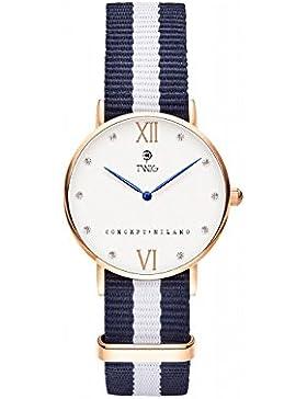 Armbanduhr TWIG Kline Navy-Wei§ Jahrgang Klassisch