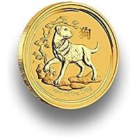 Goldmünze 1/10 Unze - LUNAR II 2018 Jahr des Hund - Year of the Dog - 9999 Feingold - einzeln gekapselt