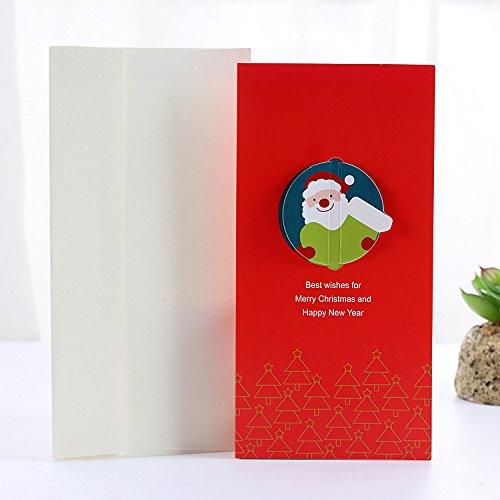 PANGUN Weihnachts-Grußkarte Party Gruß Karte Stereo-Karte Mit Pack Hülle Karte-4