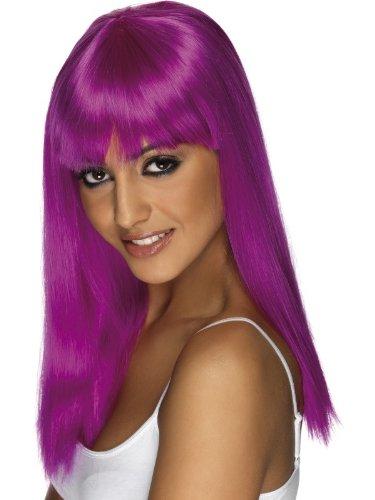 Lange gerade Glamourama in Neon-violett 80's Punk Rock Kostüm (Shore Kostüme Jersey)