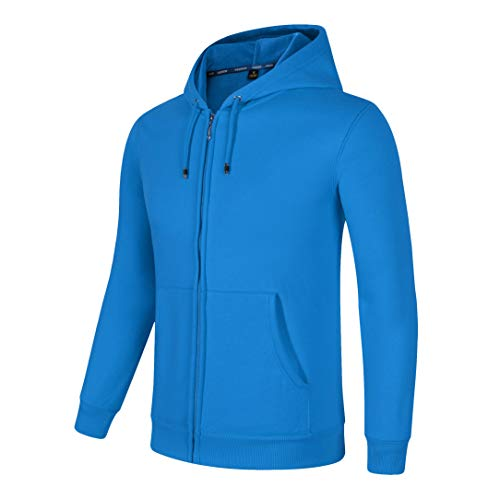 SELENECHEN Herren Sweatshirt Kapuzenpullover Sweatjacke Pullover Hoodie Sweat Hood Mit Reißverschluss (Blau, M)