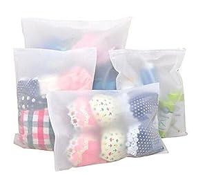Poche Plastique Organiseur de sac étanche Emballage Sacs de voyage Sac de rangement de voyage Chaussures Chiffon pour maquillage Organiseur Pochette Sac d'emballage (6-pack de différentes tailles)