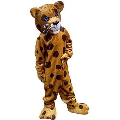 Langteng Leopard Cartoon Maskottchen Kostüm Echt Bild 15-20Tage (Leopard Kostüm Bilder)