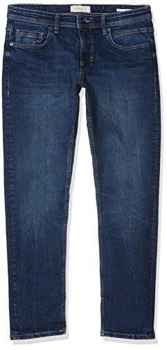 ESPRIT Herren 078EE2B008 Slim Jeans, Blau (Blue Dark Wash 901), W36 (Herstellergröße: 36/28) Slim Cropped Pants