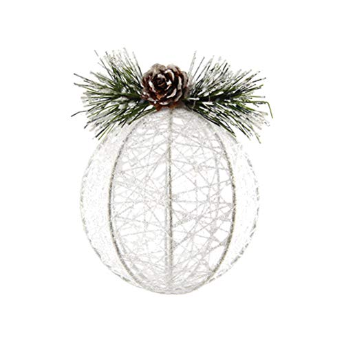 Ast-thread (VOSAREA Christmas Hanging Ornaments Kreative Glitter Thread Ball hängende Dekoration Weihnachten Rustikale Ornamente Festliche Verzierungen)