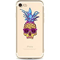 For iPhone 6S TPU Case, for iPhone 6 Cover, CrazyLemon Clear 3D Creative Variety Pineapple Pattern Printing Flexible Soft TPU Gel Transparent Silicone Skin Ultra Slim Durable Material Scratch Resistant Protective Case Cover for iPhone 6 / 6S 4.7 inch - Pineapple Printing 16