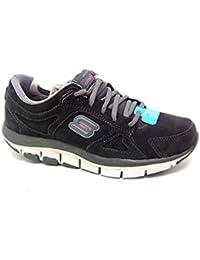 Skechers 99999756/CCPK - Zapatillas de Piel para mujer Gris gris oscuro