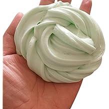 Juguete Anti-estrés, Ouneed ® Fluffy Floam Baba aroma alivio de la tensión sin bórax niños/adulto lodos juguetes (Verde1)