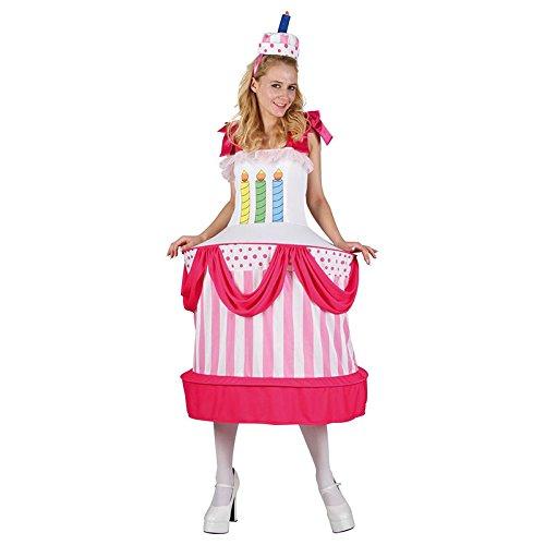 Preisvergleich Produktbild P 'tit Clown 86899Kostüm Erwachsene Damen Geburtstagstorte–Einheitsgröße–Mehrfarbig