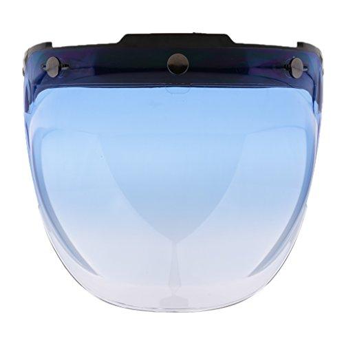 D DOLITY 3-snap Farbe wählen Ersatzvisier Schutzschildb Schutzkleidung Helmvisiere für Motorrad Fahrer Motorradhelme - 7