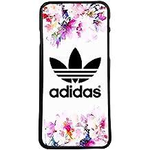 Carcasas de moviles fundas de movil de TPU compatible con Samsung Galaxy grand prime adidas marca deporte logotipo flores