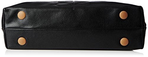 Orla Kiely  Classic Zip Shoulder Leather, Sac femme Noir