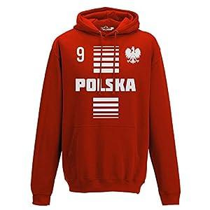 Hoodie Kapuzen-sweat-Shirt manner National Sport Polen Poland Polska 9 fussball Sport Europa Aquila 2 KiarenzaFD Streetwear