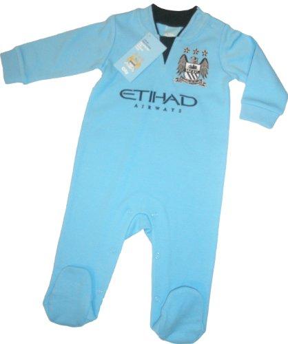Brecrest Babywear Manchester City Football Club Core Sleepsuits (Blue, 6 - 9 Months)