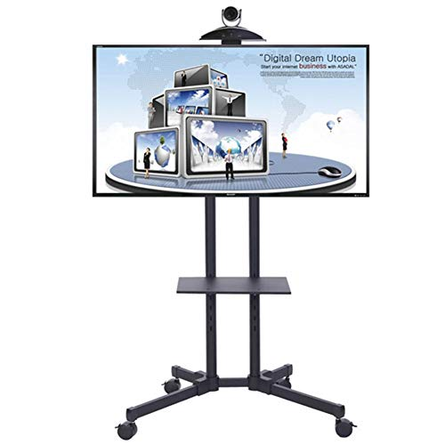 37 Flat Panel Tv Stand (XUE Rolling TV Stand Mobile TV Cart, für 37-50 Zoll LED LCD Plasma Flat Panels Höhe Adjust 360 º of Swivel Mit Wheels Mobile Bedroom Classroom Meeting Room Video-Call)